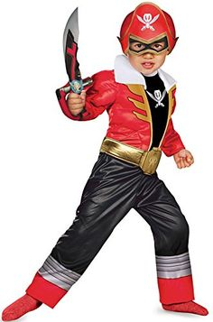 Disguise Saban Super MegaForce Power Rangers Red Ranger Toddler Muscle Costume Small2T
