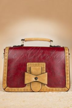 Banned red brown bow handbag 212 20 12768 20140610 0001w