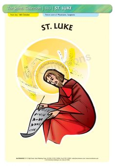 St. Luke - 18 October #SaintsDay - A3 Poster (STP883)