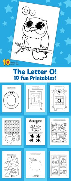 Letter O printable pack Letter O Activities, Preschool Letters, Fun Activities For Kids, Preschool Classroom, Preschool Crafts, Classroom Ideas, Easy Arts And Crafts, Crafts To Do, Letter O Crafts