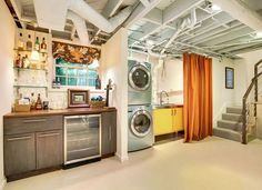 been trying to configure a laundry room in the basement. Maybe just a curtained area is all I really need.
