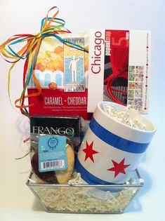 Chicago Themed Gift Baskets for Clients, Events, Family, & Friends