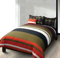Hallmart Macbeth Military Stripe Reversible Comforter Set