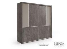 Las puertas incorporan frenos y felpa anti-polvo para aportar valor añadido y un plus de calidad al armario. Para que el armario tenga un perfecto acabado, al mismo tiempo que una estética robusta, éste incorpora laterales de 38 mm. de grosor.