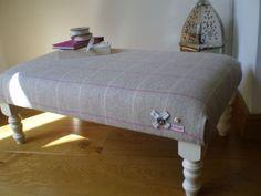 Large Wool Footstool | eBay