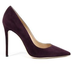 Andrew Charles Womens Pump Purple LINDA ($219) ❤ liked on Polyvore featuring shoes, pumps, purple shoes, high heel shoes, suede leather shoes, purple high heel pumps and purple pumps