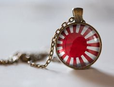 japanese flag pendant-necklace-japan