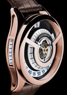 Fonderie 47 Inversion Principle Tourbillon Watch In Red Gold watch releases Fancy Watches, Dream Watches, Luxury Watches, Cool Watches, Rolex Watches, Watches For Men, Unusual Watches, Latest Watches, Big Ben