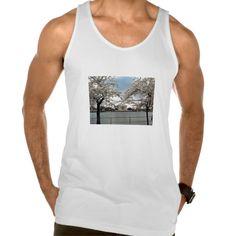 Jefferson Memorial Washington DC Cherry Blossoms American Apparel Fine Jersey Tank Top Tank Tops