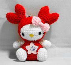 Amigurumi Hello Kitty Horoscope Series: Cancer by OrangeZoo, via Flickr