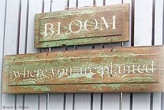 Bloom Where You Are Planted Garden Sign -