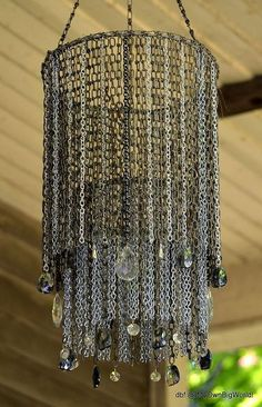 the chaindelier, lighting, repurposing upcycling, But that is okay as I think the new chain brings more shine to the piece