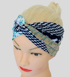 Turban Haarband Retromuster Vintage von Maiblume - fiore di maggio auf DaWanda.com Twist Headband, Turban, Accessories, Shopping, Vintage, Etsy, Fashion, May Flowers, Moda