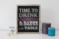 8x10 Bridal Shower Bachelorette Sangria Sign by DesignsByLindsayy