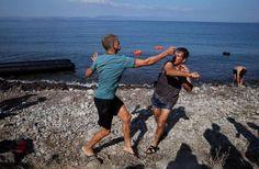 λέσβος ελληναράδες πλιατσικο προσφυγες
