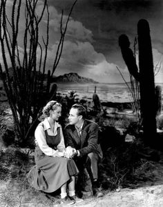 """Bette Davis (and Leslie Howard) in """"The Petrified Forest"""""""