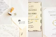Black  Ivory: Vera Wang + MaeMae Paperie I enjoy the buttery ivory paper, as well!