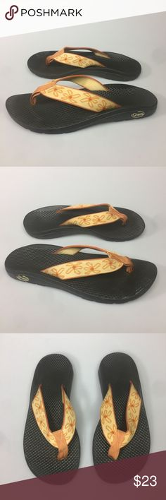 1690bc63f Chaco Thong Sandals Flip Flops Shoes EcoTread 7 Chaco Thong Sandals Women s  Size 7 Orange Flip