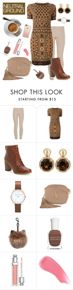 """Neutral"" by shootingstar710 ❤ liked on Polyvore featuring The Row, Alexander McQueen, Timberland, Poiray Paris, Yves Saint Laurent, Deborah Lippmann, Christian Dior, Hourglass Cosmetics and Casetify"