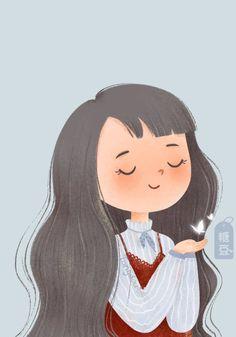 Cartoon Girl Images, Cute Cartoon Girl, Cartoon Girl Drawing, Cartoon Art Styles, Cartoon Drawings, Cute Drawings, Yoga Cartoon, Cute Illustration, Character Illustration