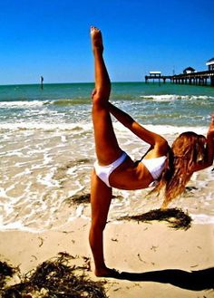 Stretching by the Beach ... I like that!