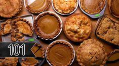 Watch: Tasty 101 - How To Make The Perfect Pie - pie crust recipe, pumpkin and apple pie recipes Pecan Recipes, Pumpkin Pie Recipes, Apple Recipes, Best Summer Desserts, Just Desserts, Dessert Recipes, Dessert Ideas, Fresh Pumpkin Pie, Just Pies