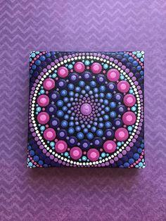 Pintura de acrílico Mandala original por ValsMandalas en Etsy