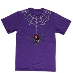 Cute Little Crawler Halloween T-shirt  Designed and created by Suzie Shinseki      Not all crawlers have to be creepy … Create this cute little crawler with Tulip® 3D Fashion Paint and a touch of creativity, for a T-shirt that'll make you scream with delight!