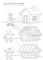 Resultado de imagem para história dos três porquinhos  matematica
