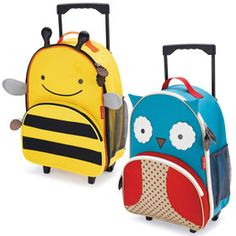 Zoo Rolling Luggage from Skip Hop — Family Find School Car, Trolley Case, Work Inspiration, Business For Kids, New Kids, Sleepover, Suitcase, Shoulder Strap, Fun