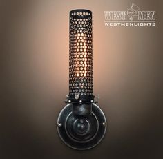 Westmenlights Black Wrought Iron Metal Mesh Wall Sconce Bar Porch Steampunk Lamp Mid Age Light