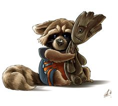 1 of 11 Pieces Of Fantastic 'Guardians Of The Galaxy' Groot Fan Art. It's so cute!!!!!!!!!!!!!