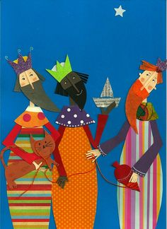 Awesome! Eles estão chegando... Three Kings  by Mariacininha Goncalves on Flickr  Cut paper artwork. Mariacininha Goncalves created this work and it is copyrighted so please leave this description in tact.