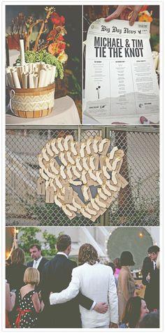 newspaper invite ~ great idea!