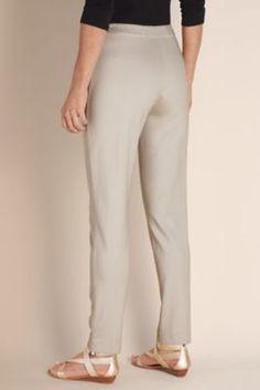 Talls Skinny Stretch Pants - Stretch Knit, Flat Elastic Contour Waistband, All-seasons Pant | Soft Surroundings