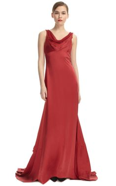 Cowl Neck Evening Gown