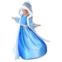 Fantasia Elsa dress 2015 Fashion Summer Kids Girls Princess Dress Children Party Costume 3pcs Set 3-10 Years Baby Girl Clothes
