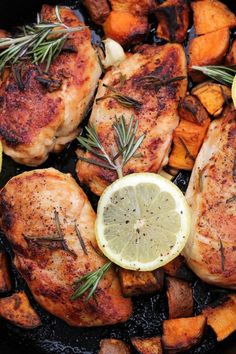 Lemon Rosemary Chicken by bravoforpaleo #Chicken #Lemon #Rosemary