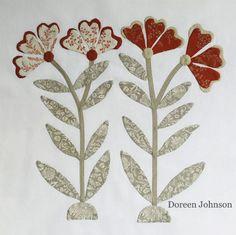 LILY -  Shenandoah Valley Botanical Album Quilt sew along