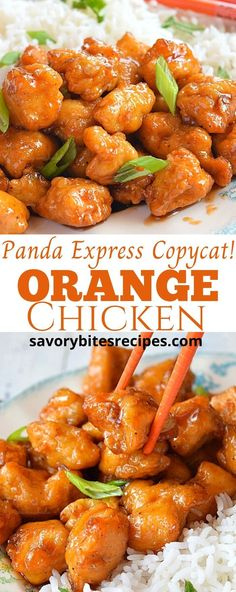 Panda Express Copycat Orange Chicken is perfect appetizer or entree anytime! Learn how to make Orange Chicken at home. Sticky Orange glaze to coat the tender chicken pieces, goes very well with sticky rice! Crispy Orange Chicken Recipes, Orange Chicken Sauce, Healthy Orange Chicken, Orange Chicken Crock Pot, Chicken Sauce Recipes, Chinese Sticky Chicken Recipe, Chinese Food Recipes Chicken, Pasta Recipes, Food Recipes