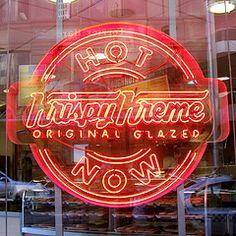 neon Krispy Kreme sign