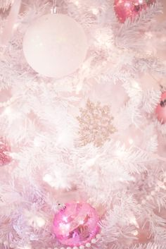 off the shoulder dress, white christmas tree, pastel christmas, pastel christmas decor, kate spade glitter heels, slmissglam makeup brushes, hair bow, pink ornaments, snowflake ornaments