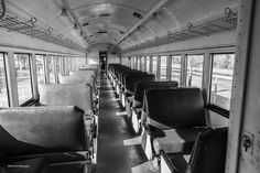 https://flic.kr/p/EJr8QK | Seating is Available_BW | Interior of a passenger car at the Oklahoma City Railway Museum in Oklahoma City.