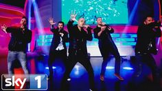 Jack Whitehall & Freddie Flintoff perform with 5ive - A League Of Their Own