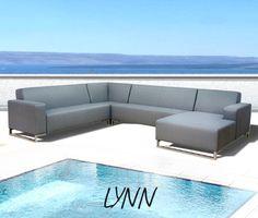 kawan lounge garten outdoor sofa teak recycled mit kissen | pool, Garten und Bauen