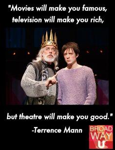 Theatre will make you good.