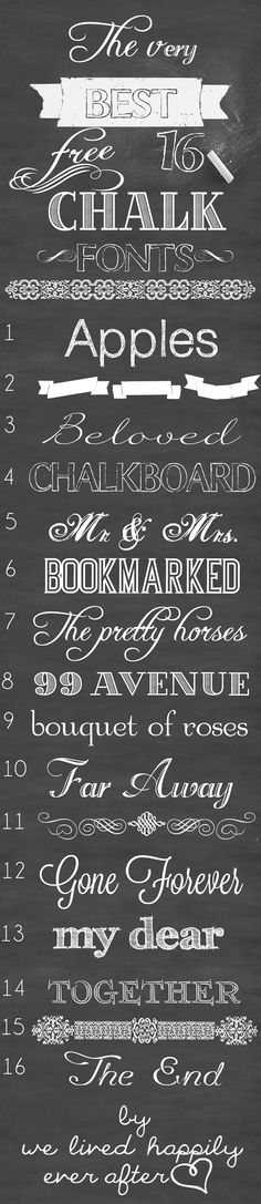 The Very Best 16 Free Chalk Fonts - We Lived Happily Ever After