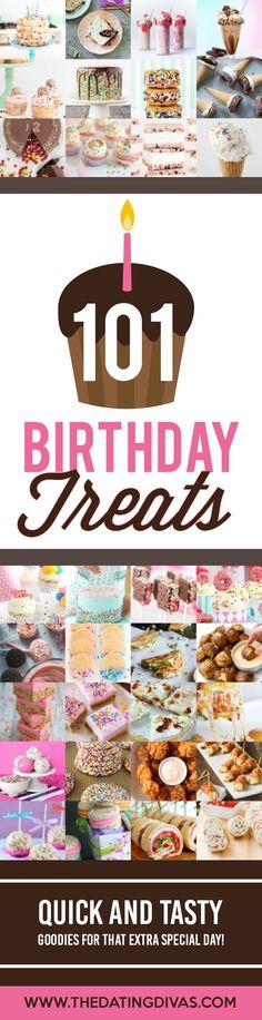 So many tasty birthday treats!! Why can't it be my birthday already?! Cakes, ice cream, cupcakes, and MORE