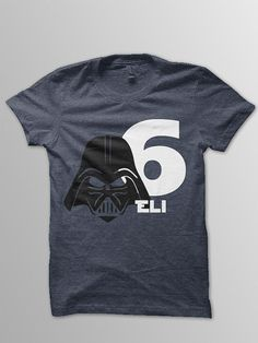 Star Wars Birthday Shirt Disney shirt kids Darth by ConchBlossom