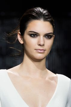 "We always love when a sexy smoky eye makes an appearance on the runway. Though sometimes a dramatic eye can be intimidating, this season at Diane von Furstenberg makeup artist Pat McGrath created a diffused look using just black and brown liner that she called a ""smoky eye girls would do at home.""   - ELLE.com"